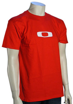 Oakley Square O T-Shirt - Red / White