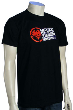 Never Summer Logo T-Shirt - Black