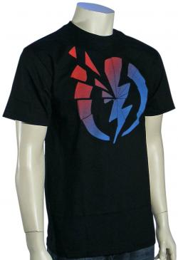 Electric Shattered T-Shirt - Black