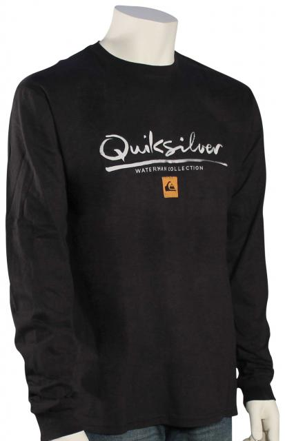 Quiksilver Waterman Wordmark LS T-Shirt - Black