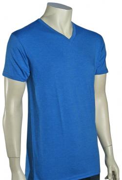 Billabong Essentials V-Neck T-Shirt - Acid Blue Heather