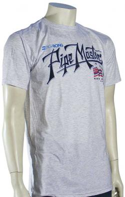 Billabong Pipe Script T-Shirt - Grey Heather