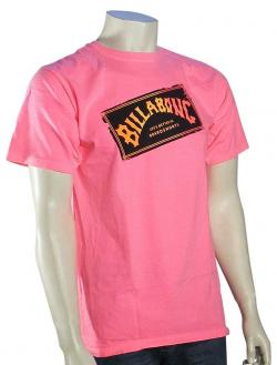 Billabong Iconic Neon T-Shirt - Neon Pink