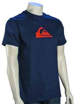 Quiksilver Mountain Wave T-Shirt - Navy / Red
