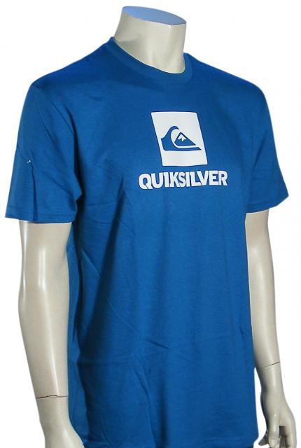 Quiksilver Stackhouse T-Shirt - Blue / White