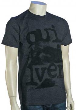 Zoom for Quiksilver Deep End T-Shirt - Dark Charcoal / Heather