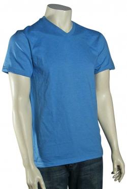 Quiksilver Blank V Neck T-Shirt - Segal Blue Heather