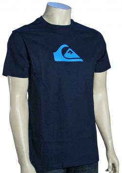 Quiksilver Mountain Wave T-Shirt - Navy / Cyan