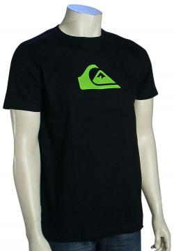 Quiksilver Mountain Wave T-Shirt - Black / Lime Green