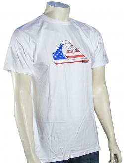 Quiksilver Stars N Stripes T-Shirt - White