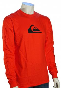 Quiksilver Mountain Wave LS T-Shirt - Vintage Red