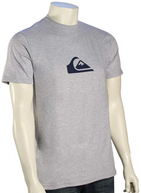 Quiksilver Mountain Wave Logo T-Shirt - Athletic Heather