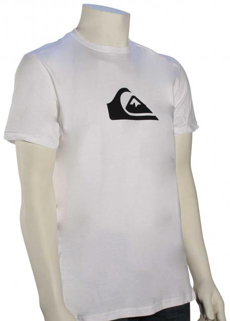 Quiksilver Everyday Mountain Wave T-Shirt - White / Black