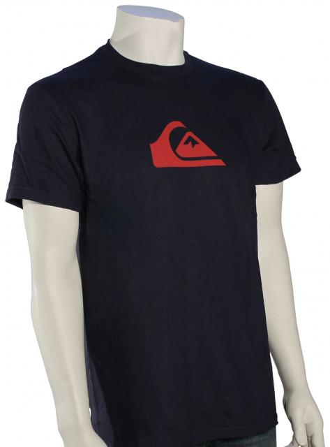 Quiksilver Mountain Wave Logo T-Shirt - Navy Blazer