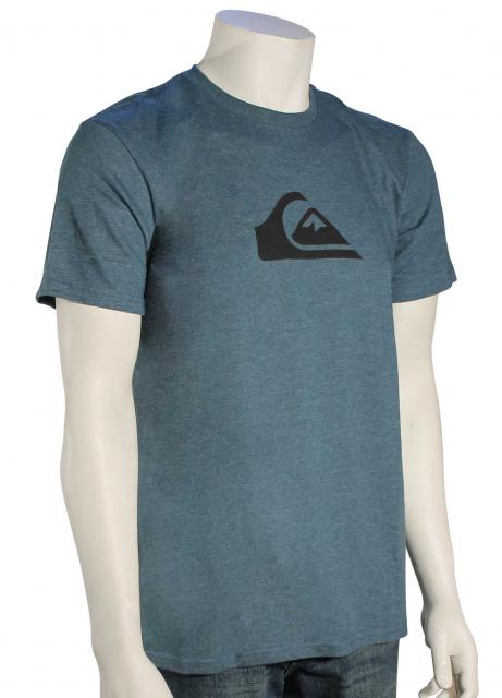 Quiksilver MW Logo T-Shirt - Atlantic Deep Heather