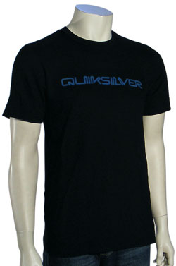Quiksilver Retro Shock Slim Fit T-Shirt - Black