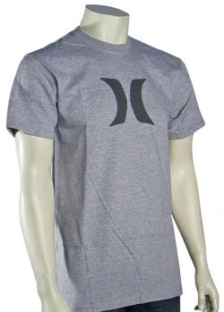 Hurley Icon T-Shirt - Heather Grey / Grey