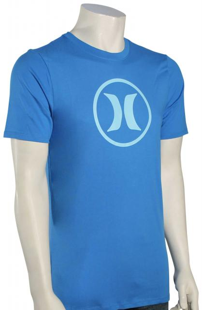 Hurley Circle Icon Dri-Fit T-Shirt - Light Photo Blue / Light Blue