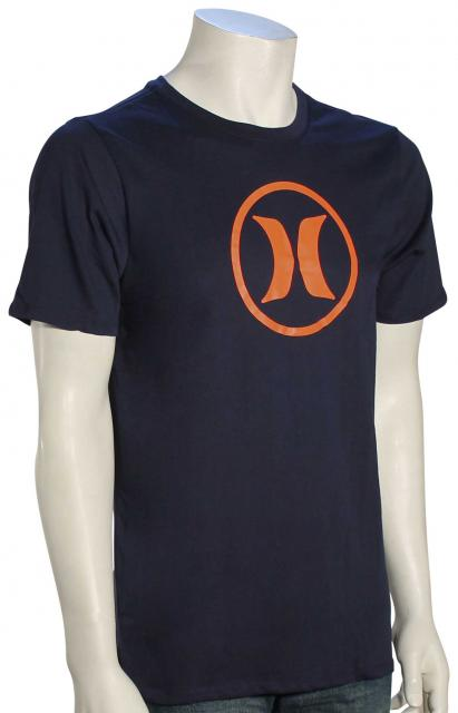 Hurley Circle Icon Dri-Fit T-Shirt - Obsidian / Orange