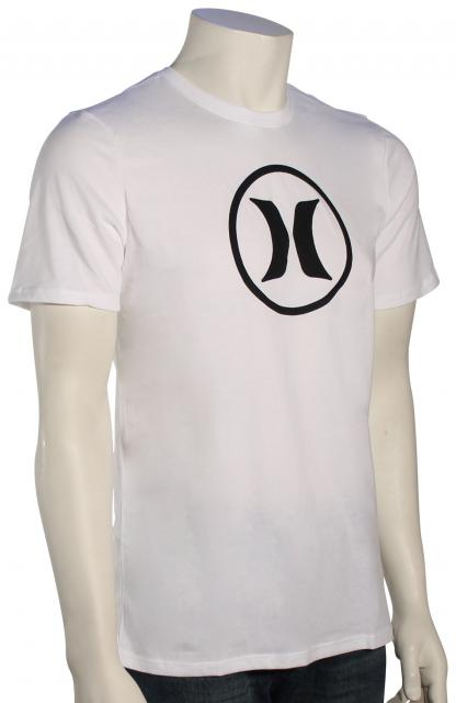 Hurley Circle Icon Dri-Fit T-Shirt - White / Black
