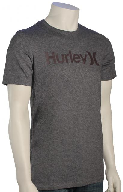 Hurley One and Only Dri-Fit T-Shirt - Charcoal Heather / Mahogany