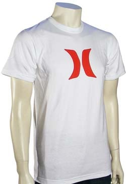 Hurley Icon T-Shirt - White / Red