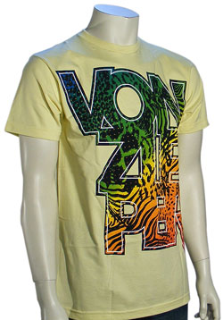 Von Zipper Safari Color T-Shirt - Yellow