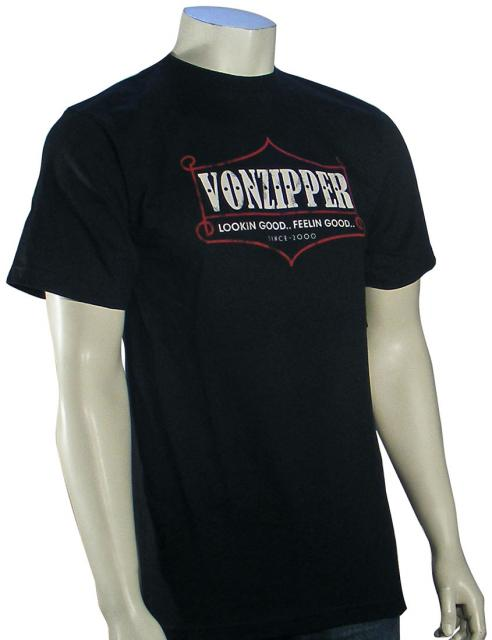 Von Zipper Creepy Carney T-Shirt - Black