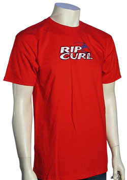 Rip Curl Ink Stain T-Shirt - Red