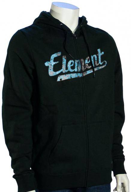 Element Script Zip Hoody - Black