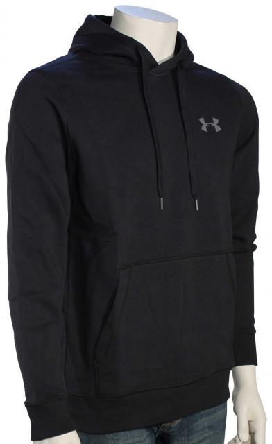 Under Armour Rival Fitted Pullover Hoody - Black / Graphite