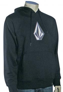 Zoom for Volcom Original Stone Pullover Hoody - Black