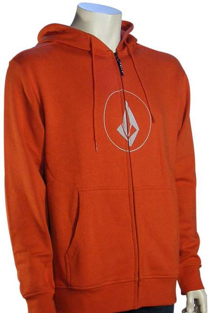 Volcom New Stone Basic Zip Hoody - Burnt Orange