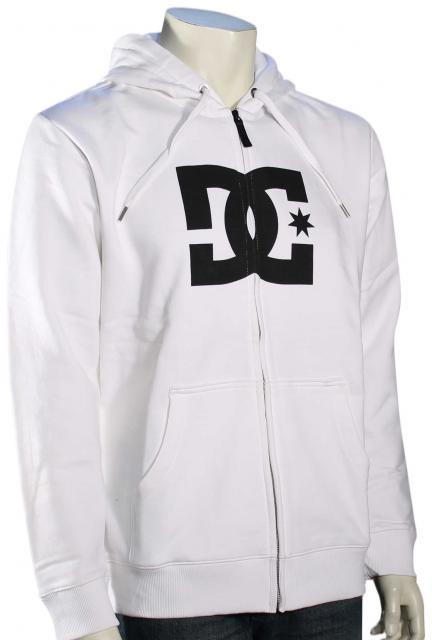 DC Star Zip Fleece Hoody - White