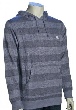 DC Rebel Stripe Pullover Hoody - Heather Grey