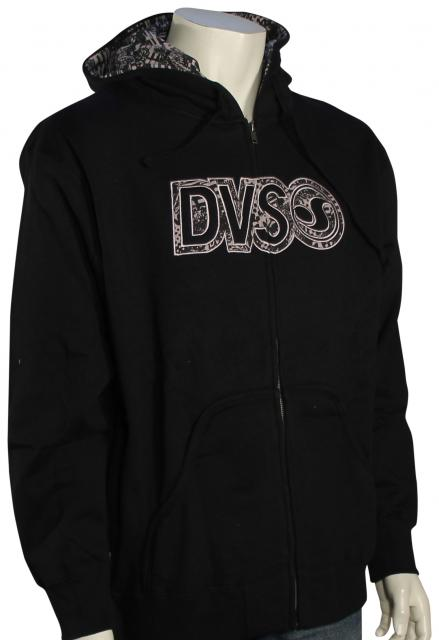 DVS Bedlam Zip Fleece Hoody - Black