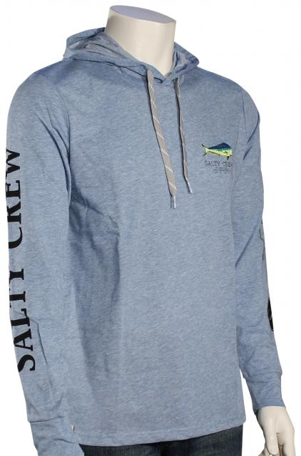 Salty Crew Angry Bull Tech Pullover Hoody - Blue