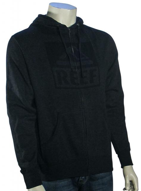 Reef Square Block Zip Hoody - Charcoal Heather