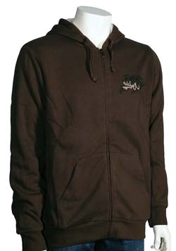 Quiksilver Low Hanging Fruit Zip Fleece Hoody - Brown
