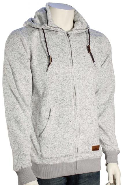 Quiksilver Keller Zip Hoody - Light Grey Heather
