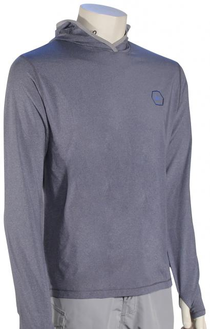 Quiksilver Amphibian Pullover Hoody - Medieval Blue Heather