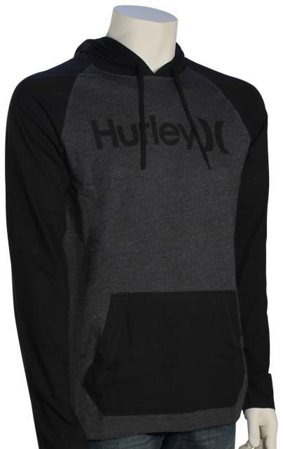 Hurley One and Only Raglan Pullover Hoody - Black Heather