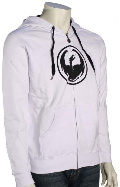 Dragon Corp Zip Hoody - White