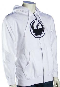 Dragon Icon Zip Hoody - White