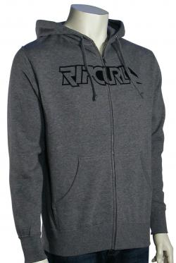 Rip Curl Blend Ziss Zip Fleece Hoody - Gunmetal Heather