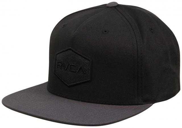 a7c9f3ff55b RVCA Commonwealth Snapback Hat - Classic Black   Grey For Sale at ...