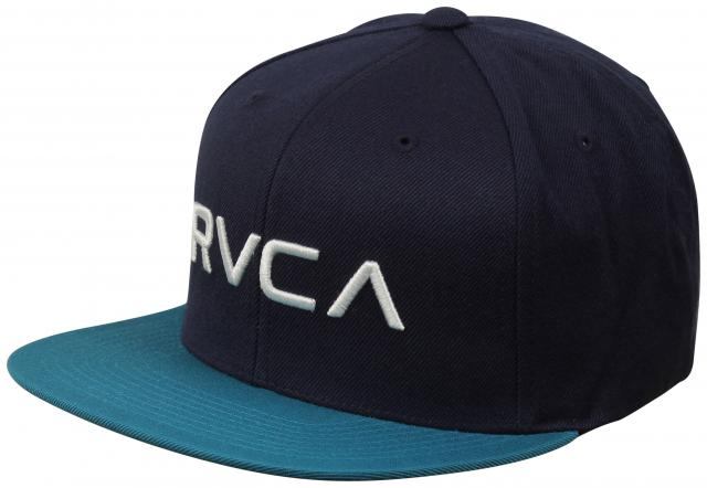RVCA Twill Snapback Hat - Navy / Teal