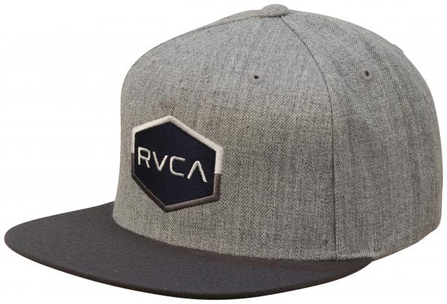 68a40507761 RVCA Commonwealth Snapback Hat - Athletic Heather For Sale at  Surfboards.com (18148269)