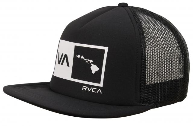 905b261f RVCA Islands Balance Box Foam Hat - Black / White For Sale at  Surfboards.com (18148308)