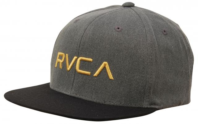 bc4fef46 RVCA Twill Snapback Hat - Washed Black For Sale at Surfboards.com (18148323)